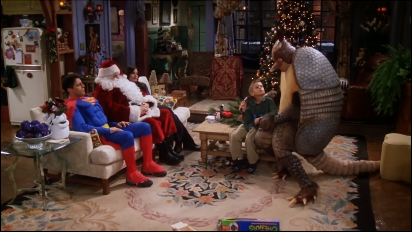 Resultado de imagen de friends the one with the holiday armadillo