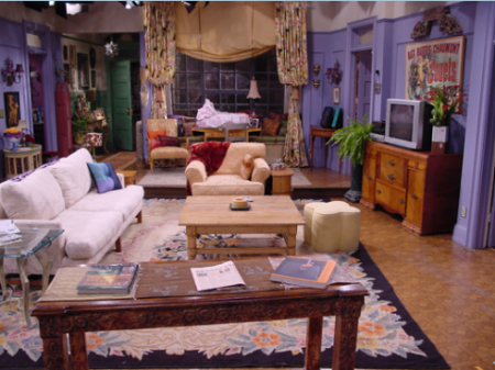 The walls are painted purple in the living room  apartment has an open plan for main space mainly comprised of kitchen and Monica s Apartment Friends Central FANDOM powered by Wikia