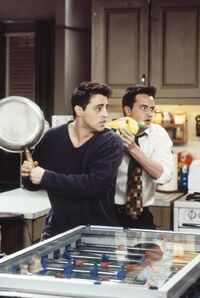 Joey and Chandler