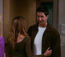 Rachel flirts with Ross (7x06)