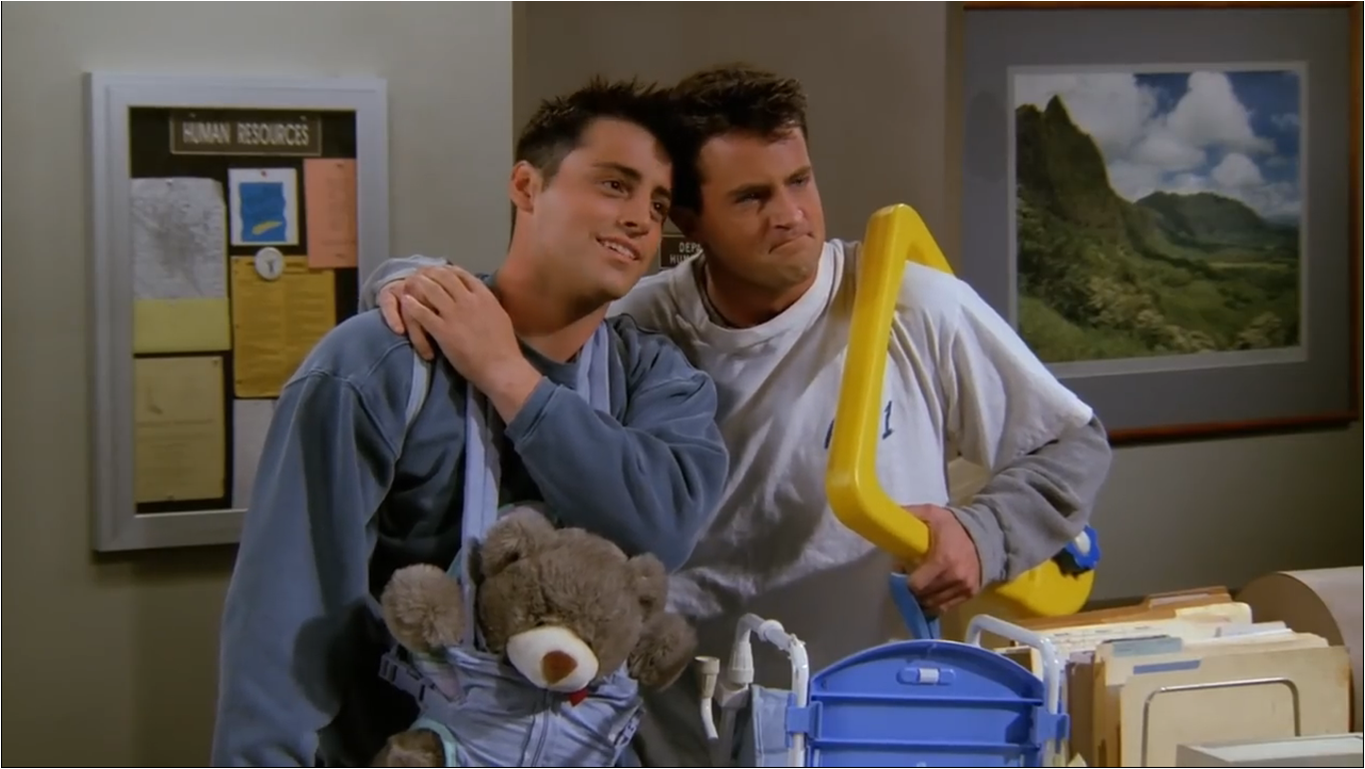 Image result for chandler and joey