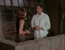 Rachel and Ross on Balcony (2x01)