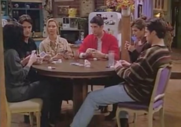 Friends Cast Poker Scene POSTER
