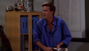 Chandler retrieves his pants