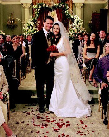 Wedding Party 2.Monica And Chandler Friends Central Fandom Powered By Wikia