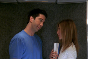 Ross and Rachel on the Plane-10x01