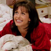 Monica in bed