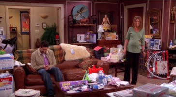 Ross and Rachel Awkward Moment (8x21)