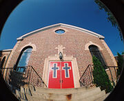 Church steps and doors