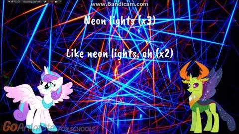 Flurry Heart x Thorax - Neon Lights - Lyric Video