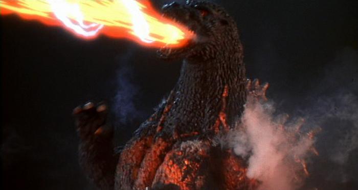 Burning Godzilla in Godzilla vs. Destoroyah