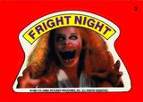 Topps Fright Flicks Fright Night 1985 Amanda Bearse Sticker