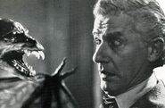 Fright Night 1985 Roddy McDowall stares down bat