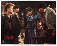 Fright Night Lobby Card 03 Stephen Geoffreys William Ragsdale Amanda Bearse Chris Sarandon