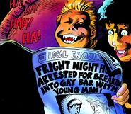 Fright Night Comics - Evil Ed Gay Bar Newspaper Headline