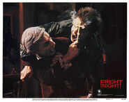 Fright Night Lobby Card 02 Roddy McDowall Stephen Geoffreys