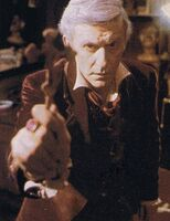 Fright Night 1985 Roddy McDowall with Cross
