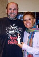 Clayguy sculptor Barry Crawford and Amanda Bearse in 2012