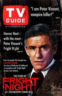 The Story of Fright Night - Roddy McDowall TV Guide cover