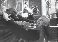 Fright Night 1985 Roddy McDowall with Vampire Bat