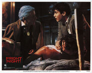 Fright Night Lobby Card 01 Roddy McDowall William Ragsdale