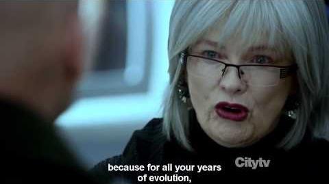 FRINGE season 5 episode 10 Nina Sharp dies (brilliant scene)