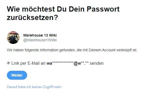 Reset twitter password warehouse13 wiki