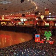 Frog on skates