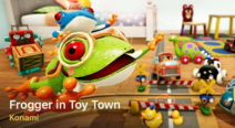 Frogger In Toy Town Title