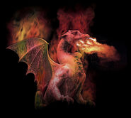 Fire Breathing Mythical Dragon