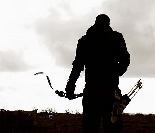 File:Archery - The archer ready to shoot.jpg