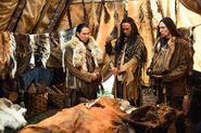 Native Americans in tent