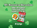 St. Patrick's Day Horseshoe Discount Loading Screen