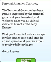 Pony Express Letter 1