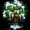 Frozen orange front icon