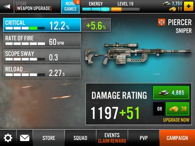 Piercer Sniper Stats Upgrade