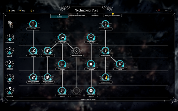 Heating tech tree 2