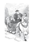 Elsa y Anna en un trineo de la realeza