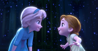 Elsa entertaining Anna