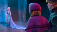 Elsa tells Anna and Kristoff to leave