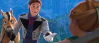Hans helps Anna