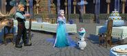Kristoff , Sven , Elsa , Olaf