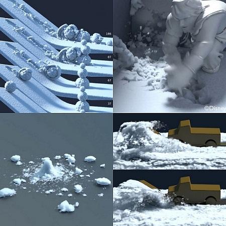 Technology Development Snow Simulation Frozen