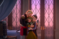 Anna hugging Agnarr and Iduna