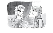 Elsa y Anna en el capítulo