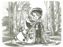 Freddy meets Olaf