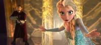 Elsa faces the guards