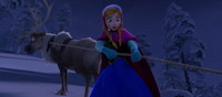 Sven and Anna save Kristoff