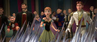 Anna discovers Elsa's magic