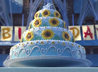 Surprising Annas Birthday Cake Frozen Wiki Fandom Funny Birthday Cards Online Elaedamsfinfo